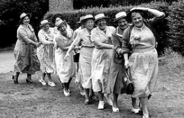 The only people that line conga lines are old people, and that's because they don't have long to live and have to enjoy everything that comes their way.