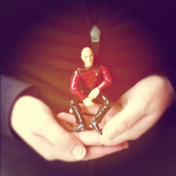 To boldly meditate where no action figure has meditated before!